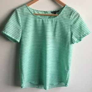 Mint green BR blouse top